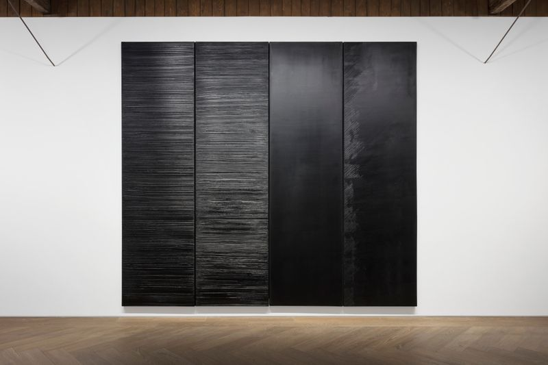 Pierre_Soulages_View of the exhibition  at Perrotin, Shanghai (Chine), 2019_21845