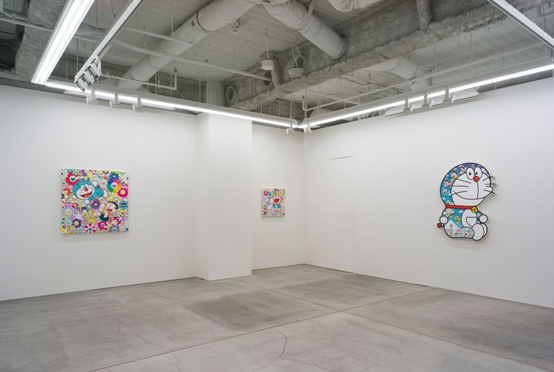 "View of the exhibition ""Superflat Doraemon"" at Perrotin Co., Ltd. Tokyo (Japon), 2019"