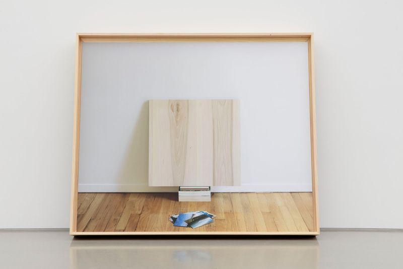 Leslie Hewitt, Untitled (Cornucopia), 2019. Digital chromogenic print in custom elm frame. 133 x 158 x 18 cm | 52 3/8 x 62 3/16 x 7 1/16 inch.