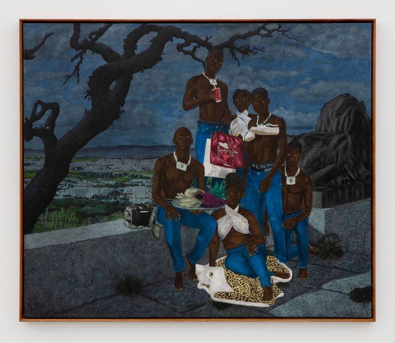 Cinga Samson, Inyongo 2, 2020Oil on canvas.Framed : 226 x 266 cm | 89 x 104 3/4 inch.