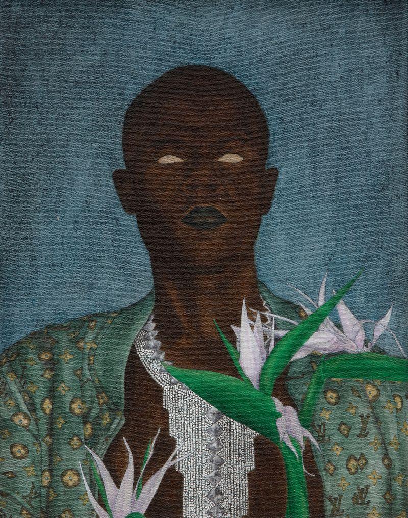 Cinga Samson, Into Entle 10, 2020Oil on canvasFramed : 49 x 39.5 cm | 19 5/16 x 15 9/16 inch.