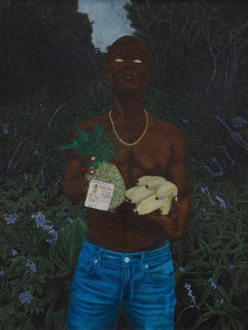 Cinga Samson, Ibhungane 13, 2020Oil on canvasFramed : 83.5 x 64 cm | 32 7/8 x 25 3/16 inch