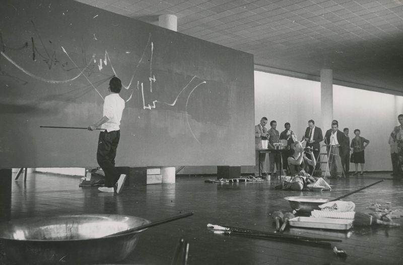 """Georges_Mathieu_View of the exhibition """"1959"""" at Museu de Arte Moderna do Rio de Janeiro  RIO DE JANEIRO (Brazil)_22879"""
