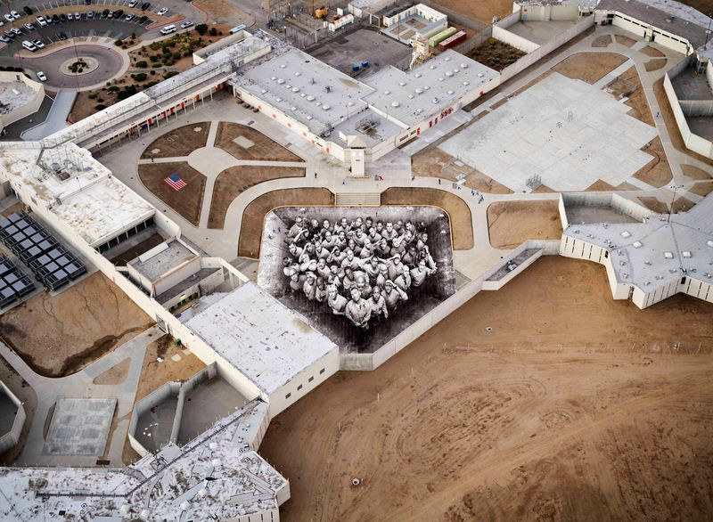 Tehachapi, California, aerial view of the pasting, 2019