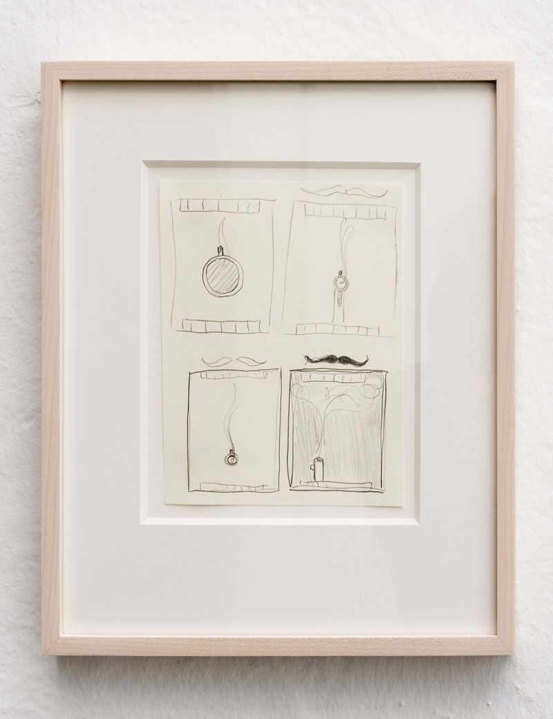 Smoking Gun / Business End studies, 2014, pencil on paper, 29 x 24 | 11.5 x 9.5 inch (framed)