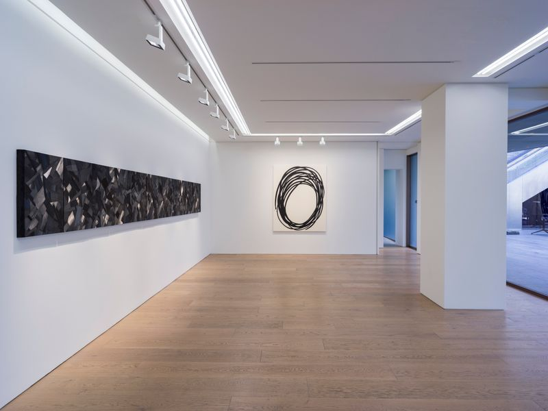 "View of the exhibition ""The Sublime Charcoal Light' at Perrotin Tokyo, 2020"