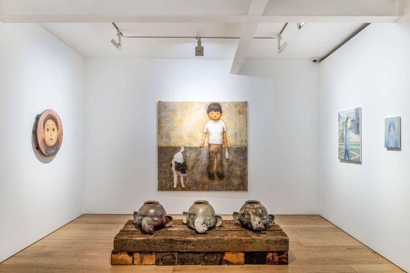 "Takashi_Murakami_View of the group exhibition ""Healing"" at Perrotin, Seoul (South Korea), 2020_23817"