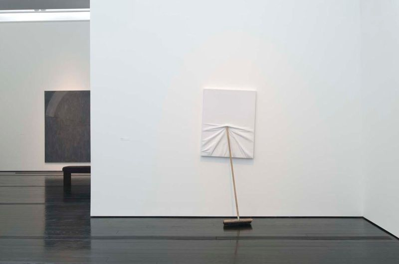 Untitled 2009 / Canvas, broom / 6.10 feet x 33 1/2 inches x 23 1/2 inches
