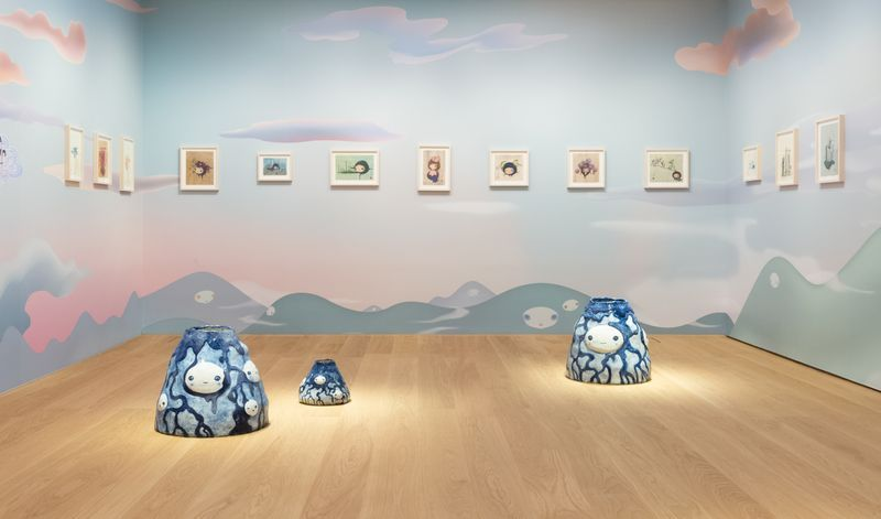 "Chiho_Aoshima_View of the exhibition ""Our Tears Shall Fly Off into Outer Space"" at HONG KONG GALLERY Hong Kong (Hong Kong), 2020_24481"