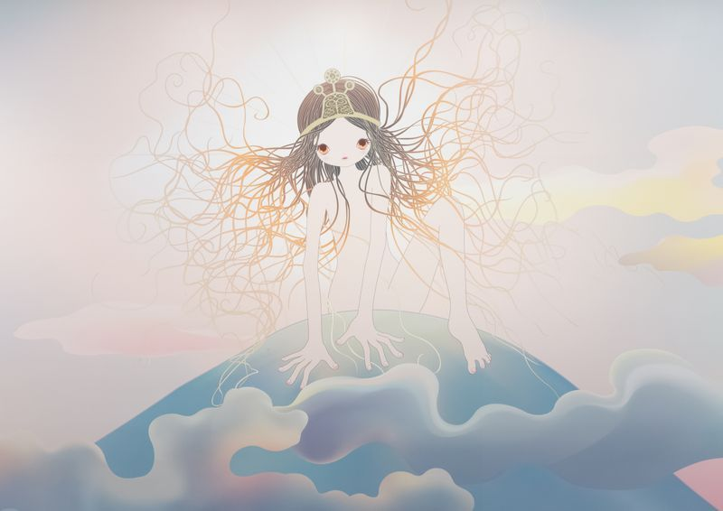 """Chiho_Aoshima_View of the exhibition """"Our Tears Shall Fly Off into Outer Space"""" at HONG KONG GALLERY Hong Kong (Hong Kong), 2020_24510"""