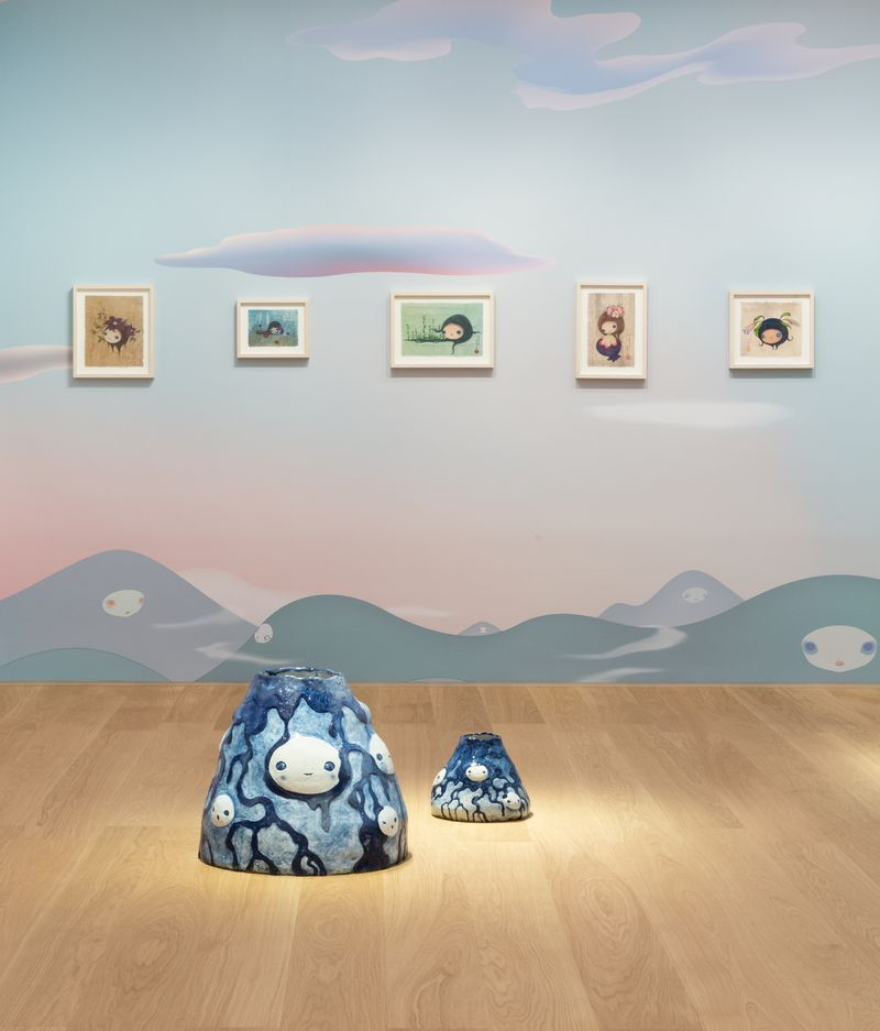 "Chiho_Aoshima_View of the exhibition ""Our Tears Shall Fly Off into Outer Space"" at HONG KONG GALLERY Hong Kong (Hong Kong), 2020_24513"