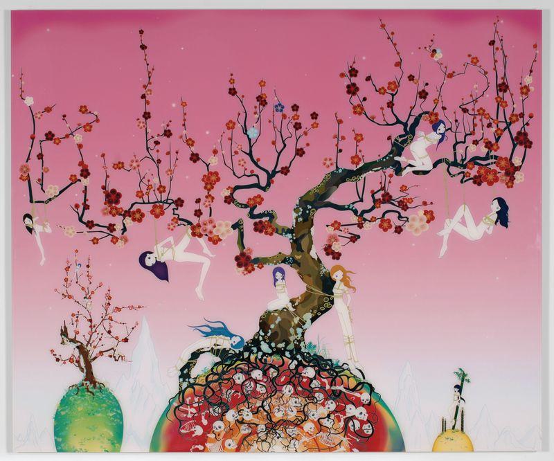 Japanese Apricot 3 - A pink dream, 2007Color photograph, plexi-glass, aluminium, (141,8 x 170 cm / : 141.8 x 170 cm)