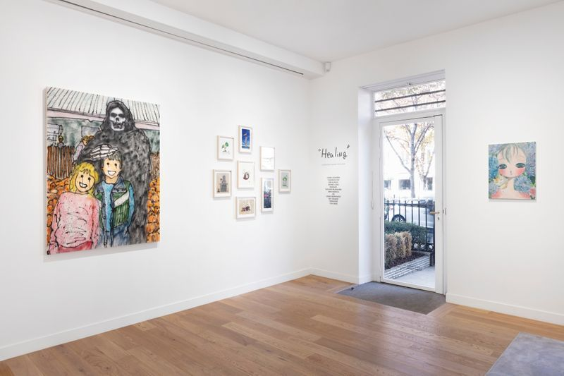 "View of the group exhibition ""Healing""curated by Takashi Murakami at Perrotin Matignon, Paris, France, 2020"