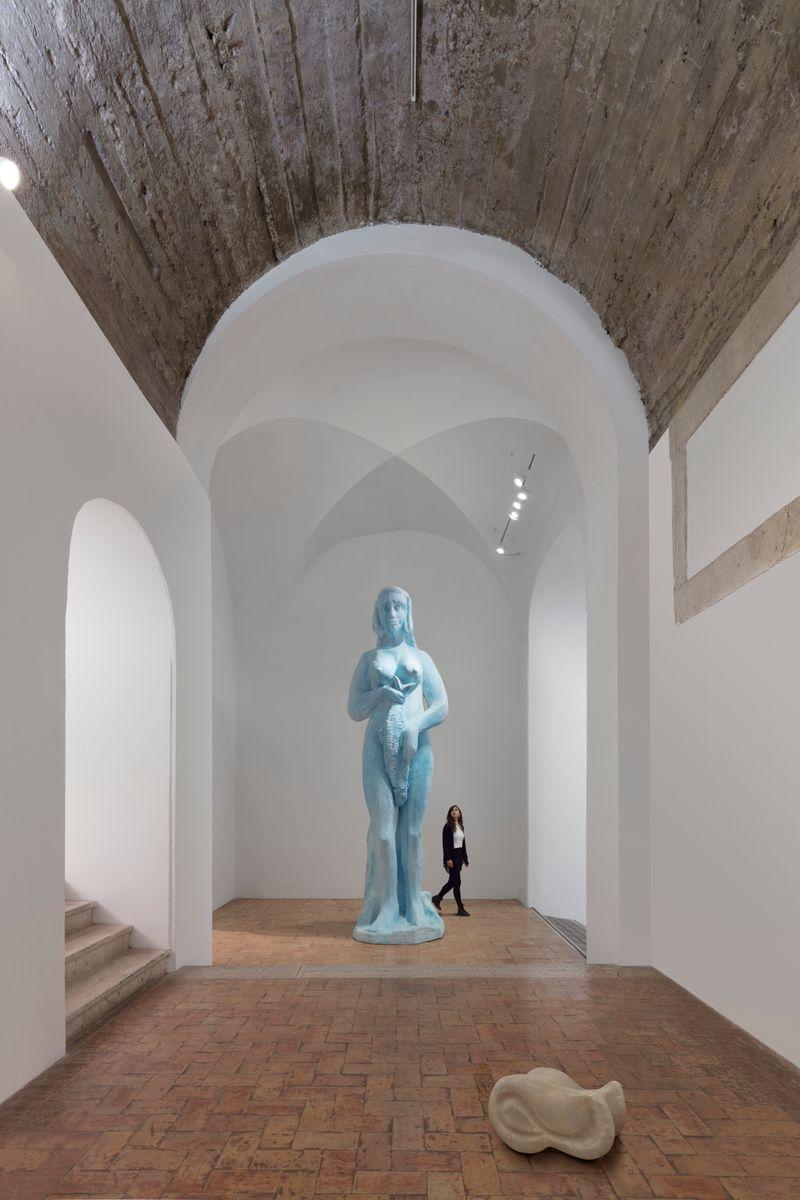 """Johan_Creten_View of the exhibition """"I Peccati"""" at French Academy in Rome – Villa Medici Rome (Italy), 2020_25060"""