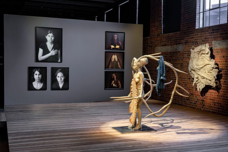 """Bharti_Kher_View of the exhibition """"Contemporary Female Identities in the Global South"""" at JOBURG CONTEMPORARY ART FOUNDATION JOHANNESBURG (South Africa), 2020_25340"""