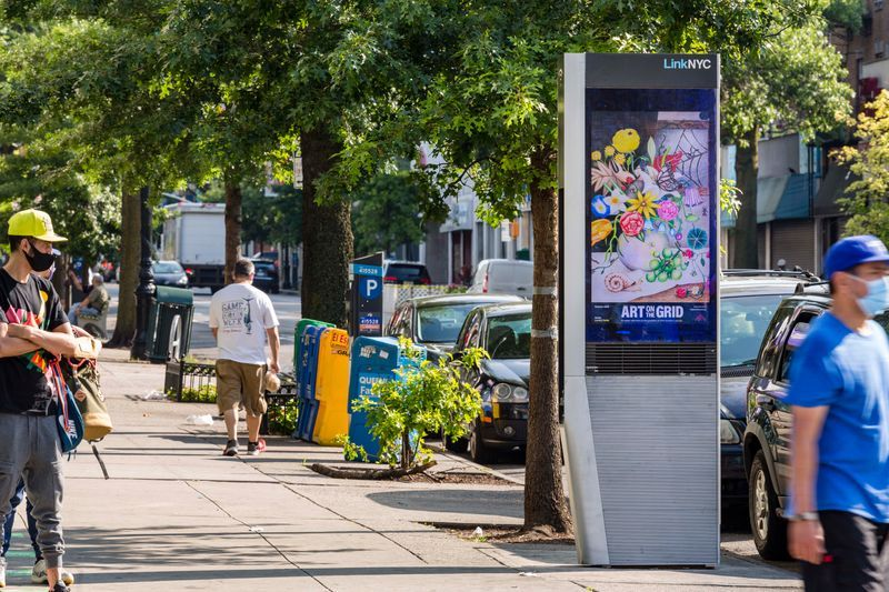 GaHee Park, Still Life with Living Things, 2020. As a part of Art on the Grid, presented by Public Art Fund on JCDecaux bus shelters citywide.
