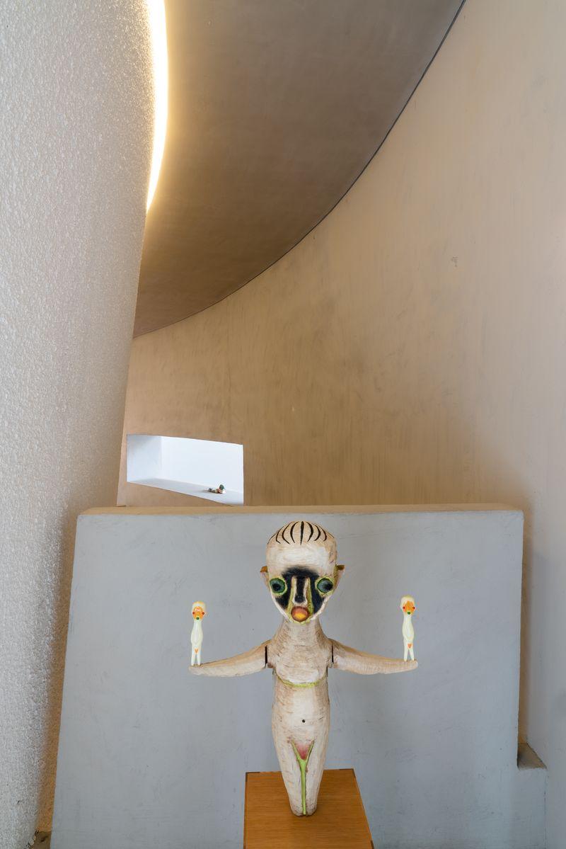 Installation view of Izumi Kato's works