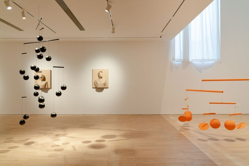 Installation view of Xavier Veilhan's works