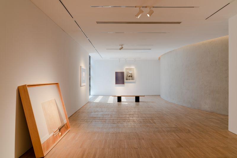 Installation view of Leslie Hewitt's works