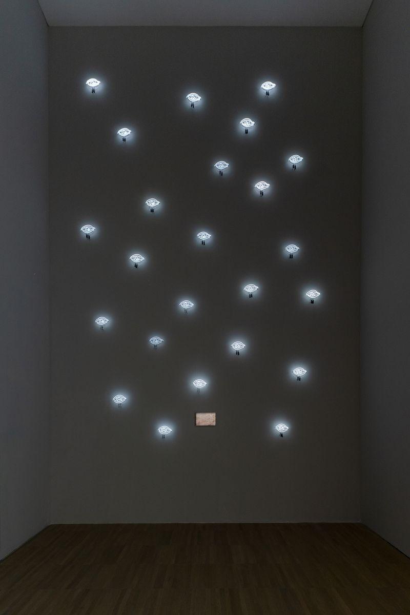 Installation view of Laurent Grasso's works