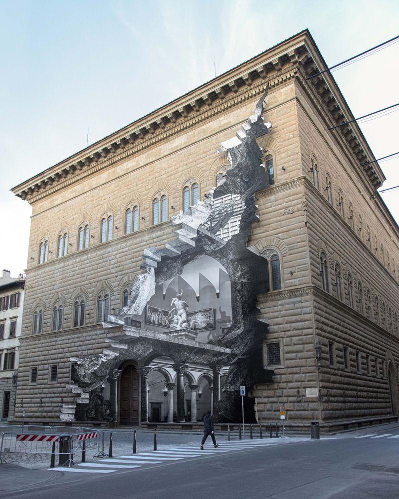 Palazzo Strozzi, Sunrise, Florence, Italy, 2021