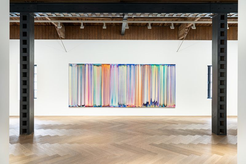 """Bernard_Frize_View of the exhibition """"The Other Side (from right-to-left or the Reverse)"""" at Perrotin, Shanghai (Chine), 2021_27131"""
