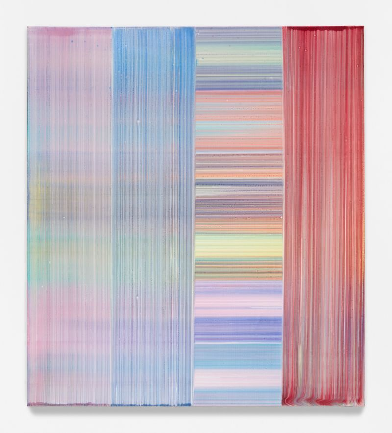 """Bernard FRIZE, """"Satal"""", 2020, Acrylic and resin on canvas, wooden frame, 180 x 160 x 2 cm - 70 7/8 x 63 x 0 13/16 inch, unique"""