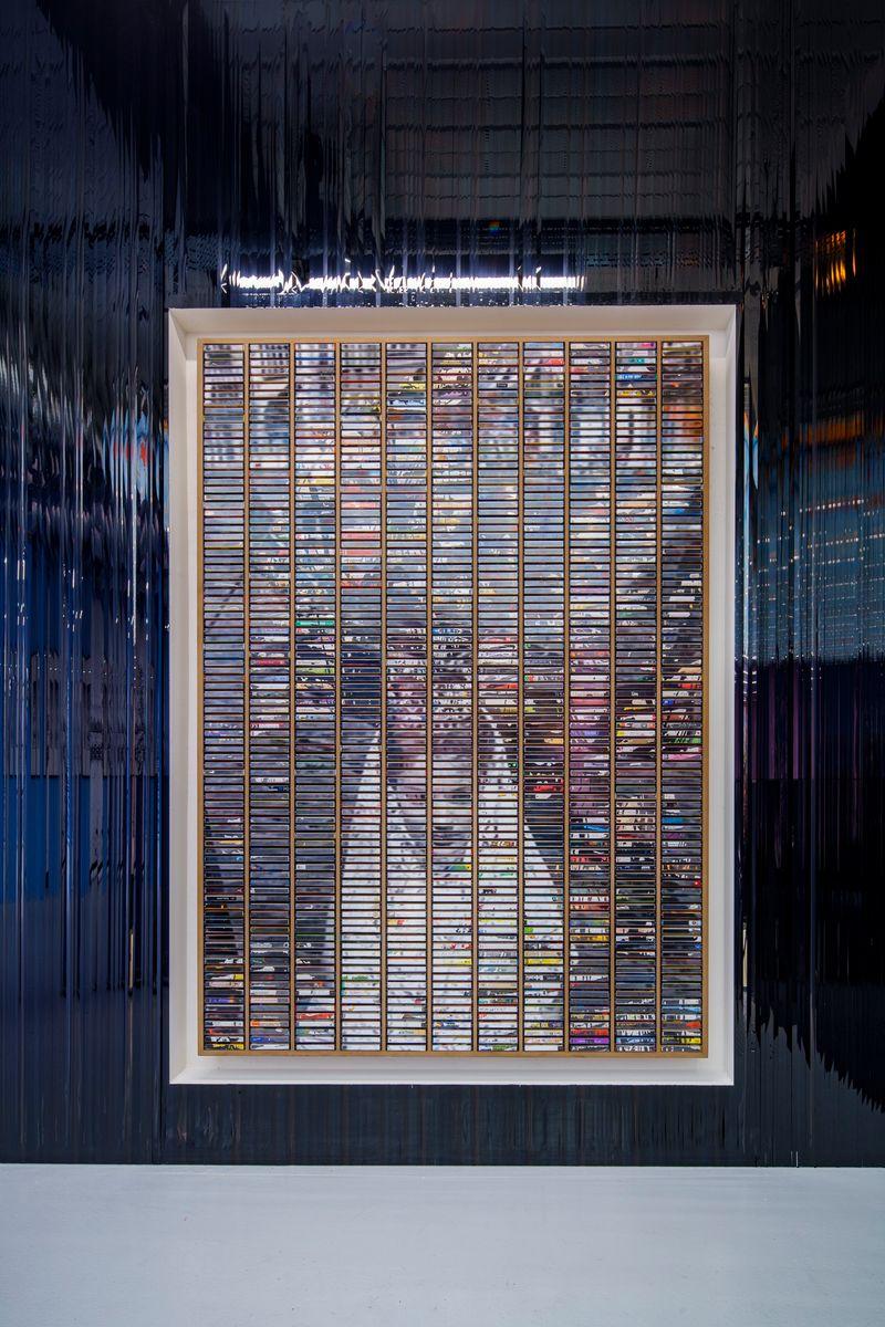 """Gregor_Hildebrandt_View of the group exhibition """"Voyages immobiles – Le grand tour"""", Diptyque"""" curated by Jérôme Sans  at La Poste du Louvre Paris (France), 2021_28502"""