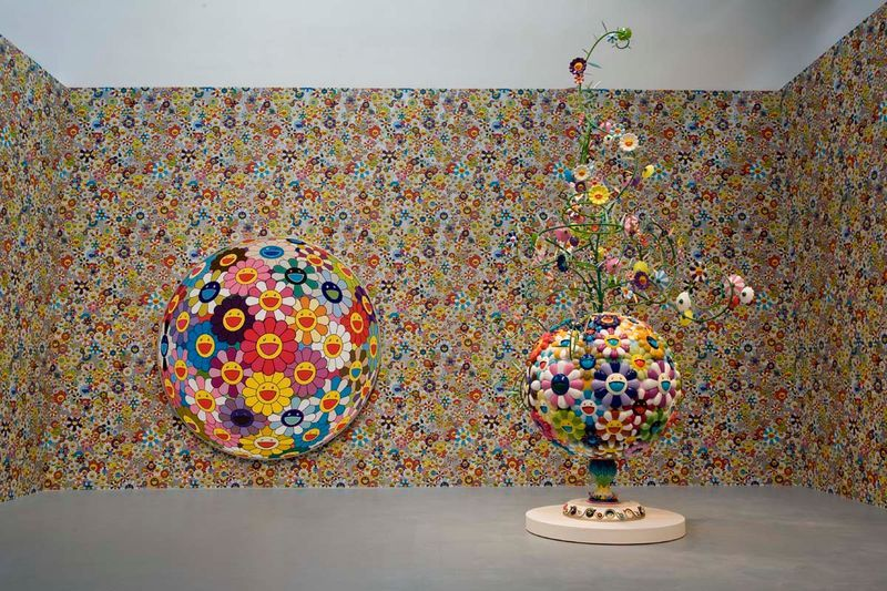 """Flower Matango (d)"", 2009 / Oil paint, acrylic, fiberglass and iron / 315 x 204,4 x 263 cm / 10.4 x 6.8 x 8.7 feet / Unique"