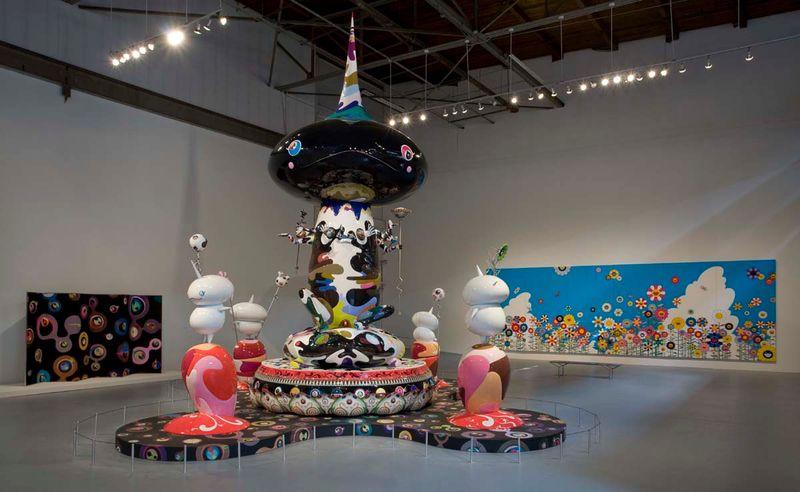 """Tongari-Kun"", 2003-2004 / Oil paint, acrylic, synthetic resins, fiberglass and iron / 702 x 350 cm x 350 cm / 23.0 x 11.5 x 11.5 feet"
