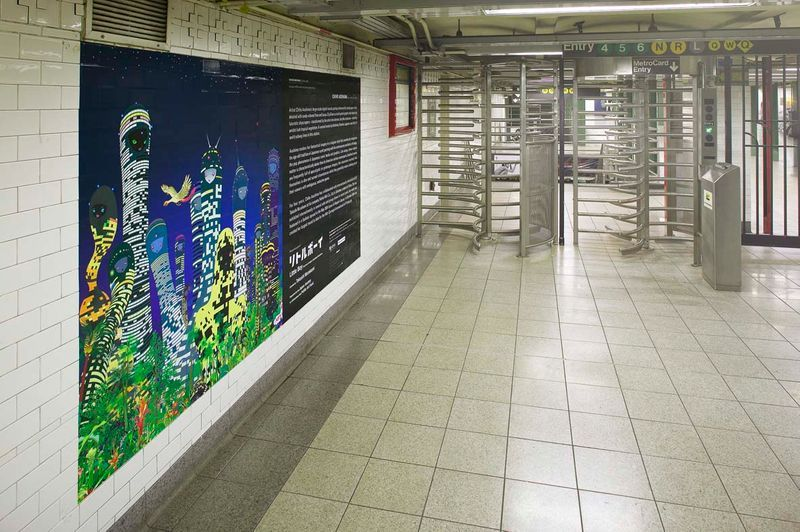 """Chiho_Aoshima_View of the exhibition """"Union Square Subway Station Installation / 2005"""" at Union Square Subway Station (USA), 2005_559_1"""