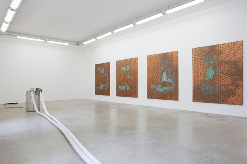 "View of the exhibition ""Freedom Fries am Arbeitsplatz"" at Galerie Perrotin, Paris (France), 2013"