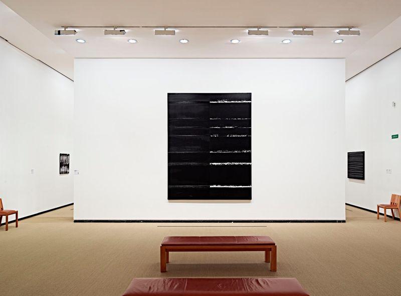"""Pierre_Soulages_View of the exhibition """"Soulages XXIe siècle"""" at Musée des Beaux-Arts de Lyon  (France), 2012_6140_1"""