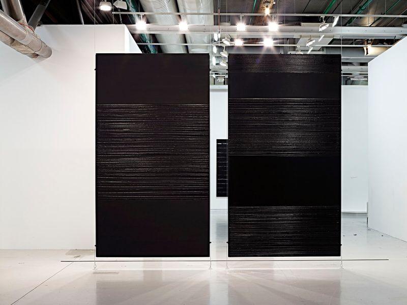 """Pierre_Soulages_View of the exhibition """"Soulages"""" at Centre Georges Pompidou Paris (France), 2010_6144_1"""