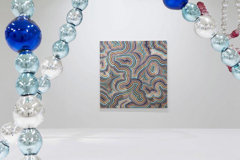 """""""Brent"""" 1992 / Acrylique et résine sur toile / Acrylic and resin on canvas 180 x 180 cm / 70 3/4 x 70 3/4 inches / Unique"""