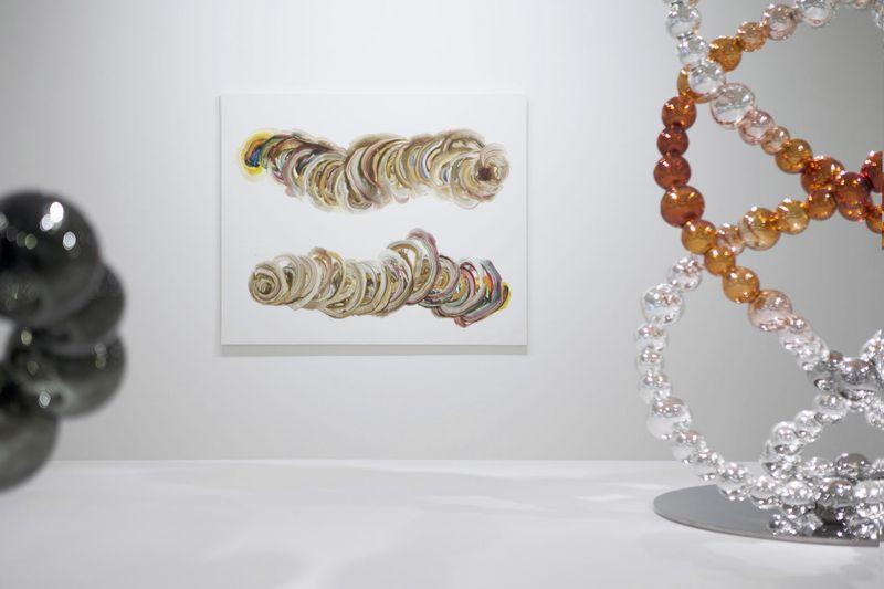 """""""Shoso Prime"""" 2013 / Acrylique et résine sur toile  / Acrylic and resin on canvas 144 x 174 cm / 56 3/4 x 68 inches / Unique"""