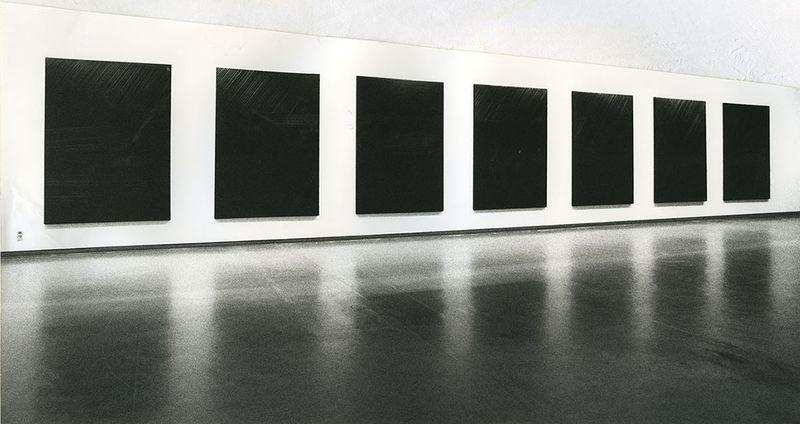 """Pierre_Soulages_View of the exhibition """"Pierre Soulages, une rétrospective"""" at National Contemporary Art Museum  Seoul (South Korea), 1993_7144_1"""