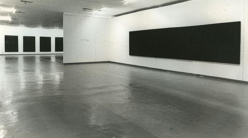 """Pierre_Soulages_View of the exhibition """"Pierre Soulages, une rétrospective"""" at National Contemporary Art Museum  Seoul (South Korea), 1993_7147_1"""