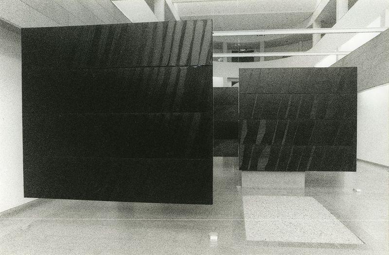"""Pierre_Soulages_View of the exhibition """"Pierre Soulages, une rétrospective"""" at National Contemporary Art Museum  Seoul (South Korea), 1993_7148_1"""