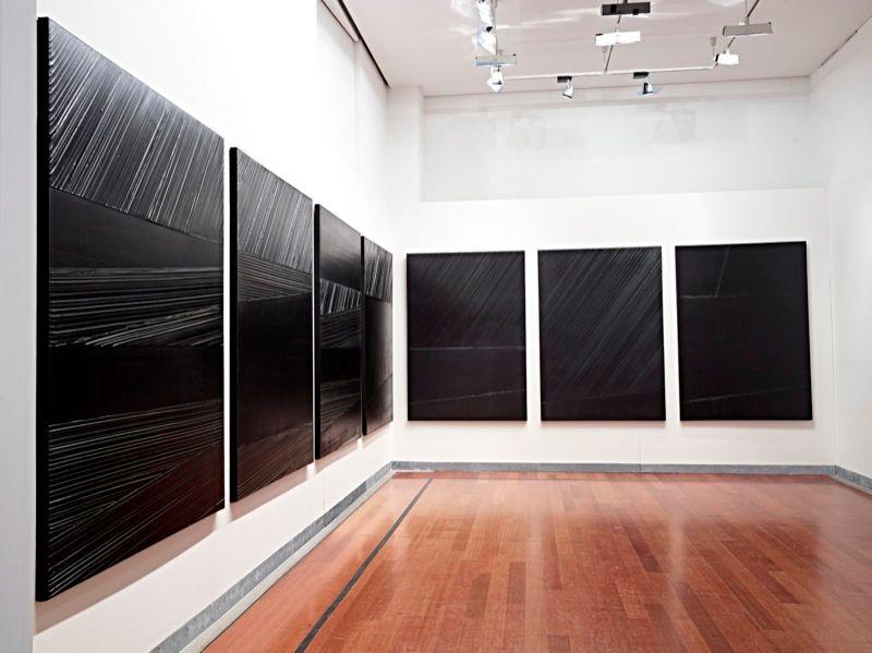 """Pierre_Soulages_View of the exhibition """"Soulages XXIe siècle"""" at Musée des Beaux-Arts de Lyon  (France), 2012_7152_1"""