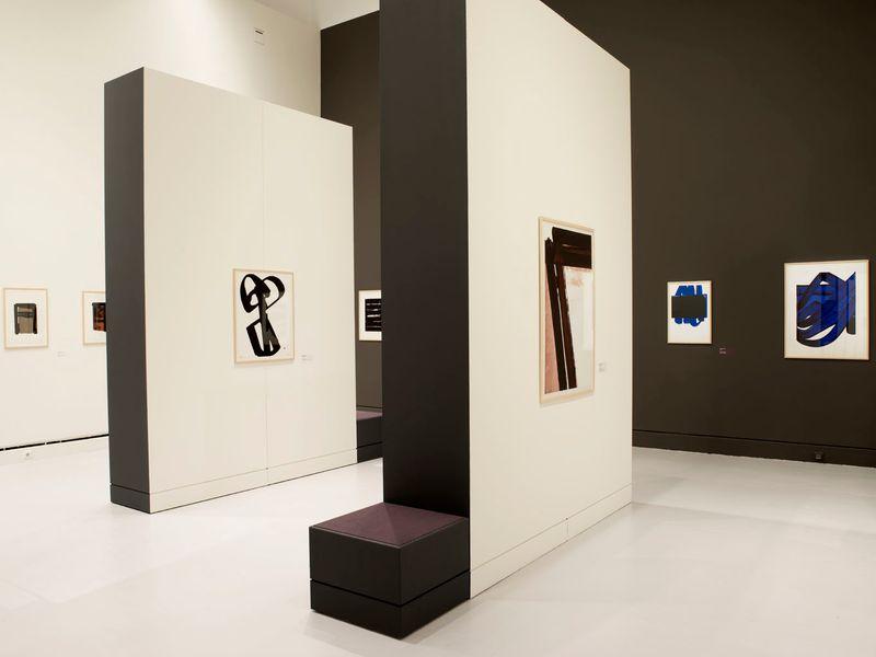 """Pierre_Soulages_View of the exhibition """"Soulages. Le temps du papier"""" at Contemporary Art Museum Strasbourg (France), 2009_7169_1"""