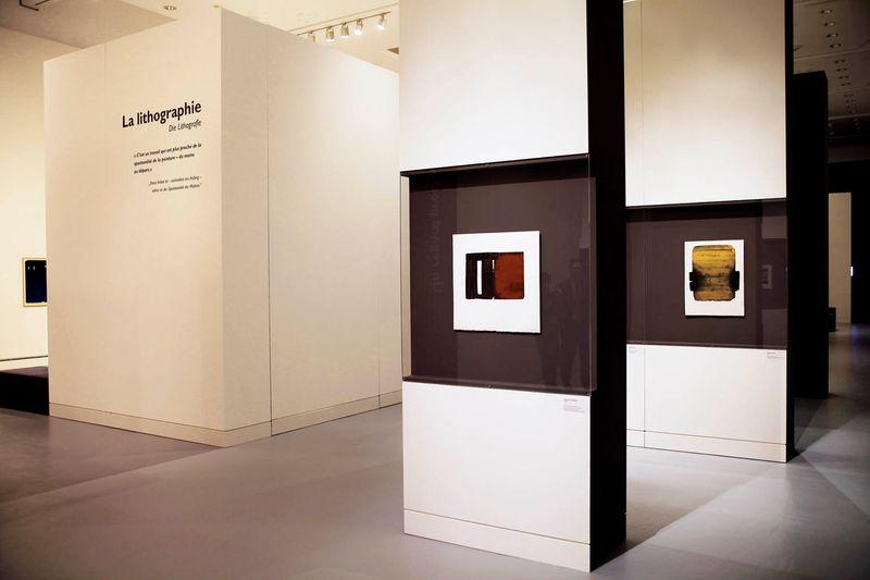 """Pierre_Soulages_View of the exhibition """"Soulages. Le temps du papier"""" at Contemporary Art Museum Strasbourg (France), 2009_7170_1"""