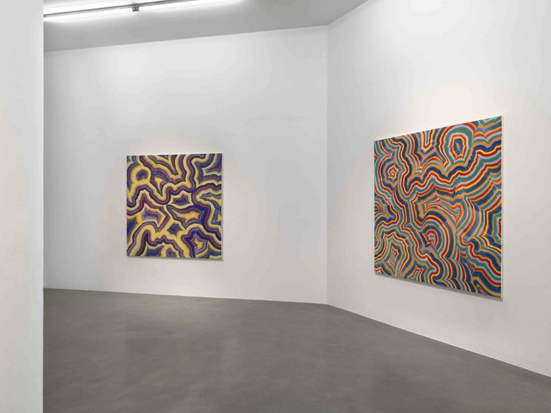"View of the exhibition ""Colour Divides"" in 2014  at Simon Lee Gallery London (United Kingdom)"