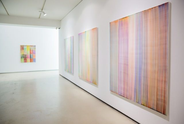 """Bernard_Frize_View of the exhibition """"We have a thread, and we want to know the whole cloth"""" at Johyun Gallery  Busan (South Korea), 2014_8101_1"""