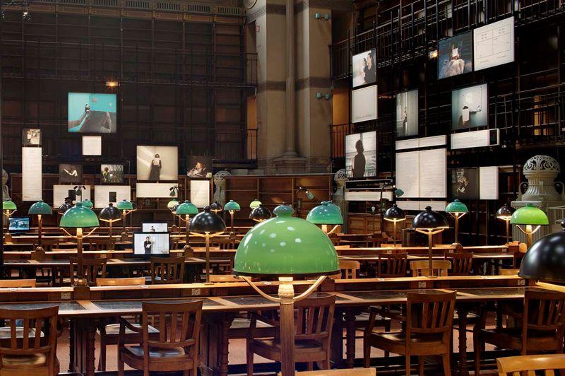 """Sophie_Calle_View of the exhibition """"Prenez soin de vous"""" at Bibliothèque Nationale de France, Site Richelieu (France), 2008_820_1"""