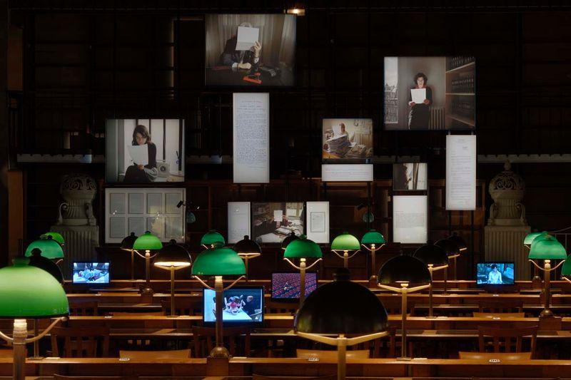 """Sophie_Calle_View of the exhibition """"Prenez soin de vous"""" at Bibliothèque Nationale de France, Site Richelieu (France), 2008_821_1"""
