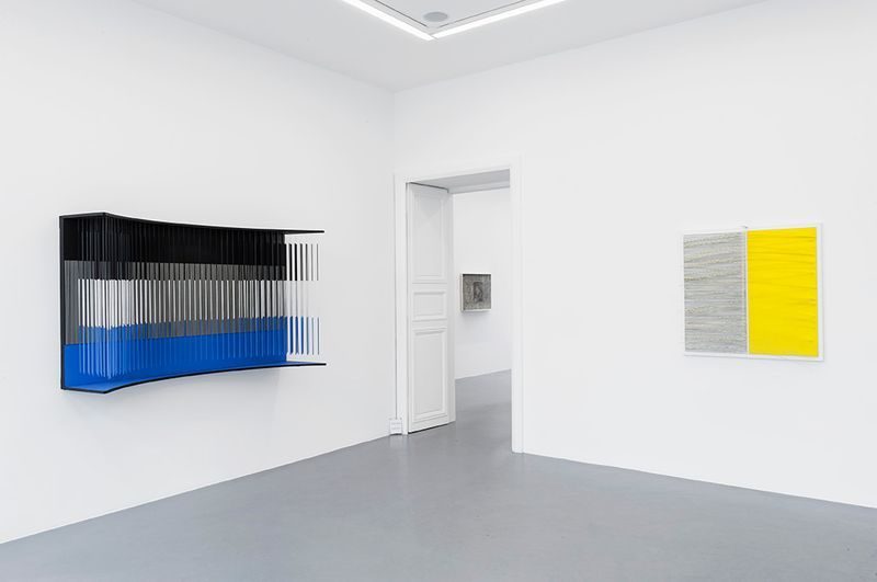 """Jesus_Rafael_Soto_View of the exhibition """"Chronochrome"""" curated by Matthieu Poirier  at Perrotin Paris (France), 2015_8598_1"""