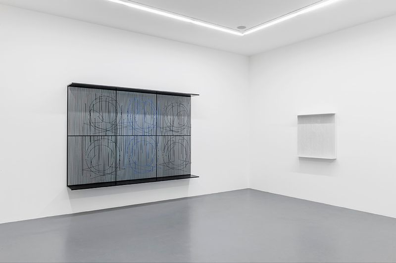 """Jesus_Rafael_Soto_View of the exhibition """"Chronochrome"""" curated by Matthieu Poirier  at Perrotin Paris (France), 2015_8603_1"""