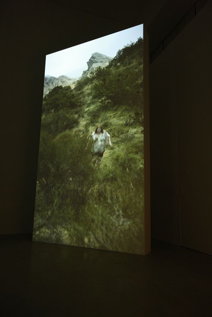 "View of the exhibition ""This Is a Landscape of Desire"" at The National Museum of Modern and Contemporary Art, Seoul (South Korea ), 2014'This is a Landscape of Desire"", 2013 / 1 channel projected installation / 14'42"""
