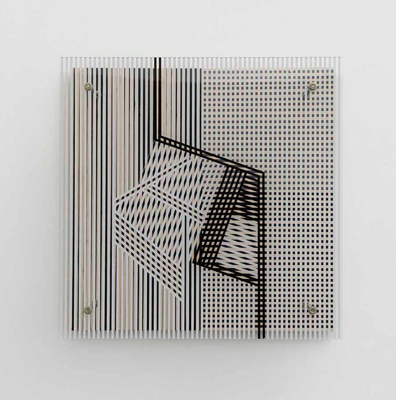 """""""Sans titre (Pour Maguy et Moamer)"""", 1958, paint on wood and plexiglas, unique"""
